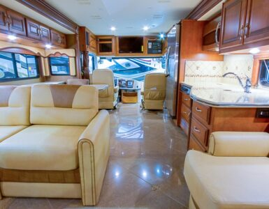 Interior of large RV
